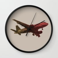 Dad's on that paper flight again Wall Clock