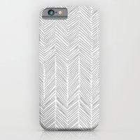 Freeform Arrows in gray iPhone 6 Slim Case