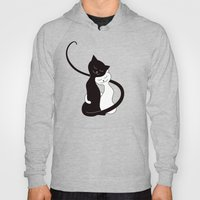 White And Black Cats In … Hoody