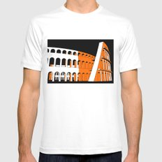 Colosseum Mens Fitted Tee SMALL White