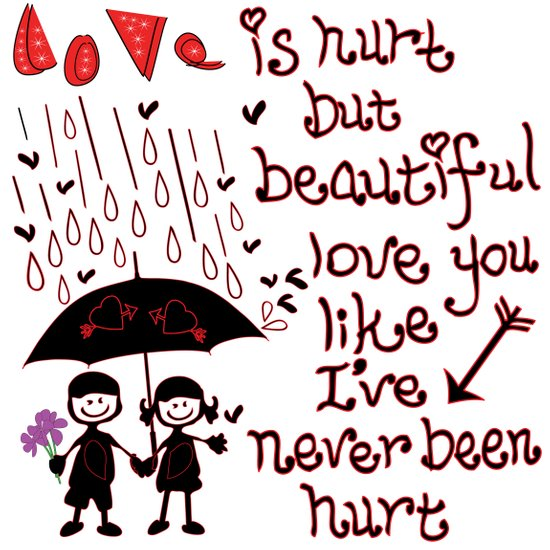 Love Rain Art Print