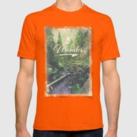 Mountain Of Solitude - T… Mens Fitted Tee Orange SMALL