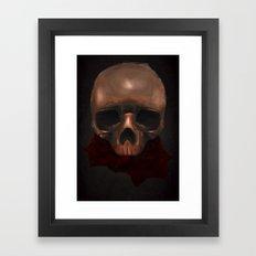 skull & roses Framed Art Print