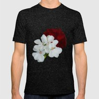 Geranium as art Mens Fitted Tee Tri-Black SMALL