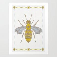 Mr Bee Art Print