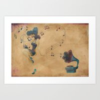 Charleston Dancer Art Print