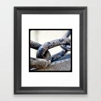 Chains. Framed Art Print