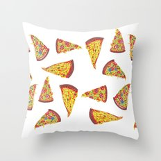 Pizza Pattern Throw Pillow