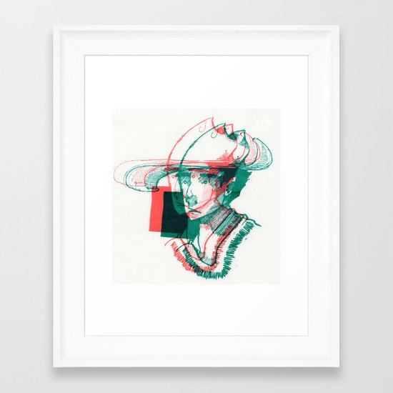 2D3D Framed Art Print