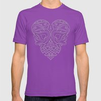 Heart Inside Mens Fitted Tee Ultraviolet SMALL