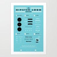 The Hipster Logo Design Guide Art Print