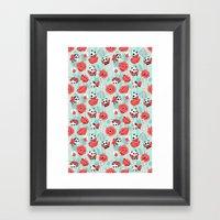 Poppy Pandas Framed Art Print