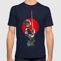 Samurai Girl Mens Fitted Tee Navy SMALL