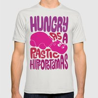 Hungry as Plastic Hippopotamus  Mens Fitted Tee Silver SMALL