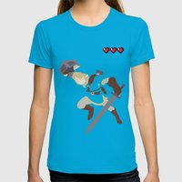 The Legend Of Zelda - Li… Womens Fitted Tee Teal SMALL