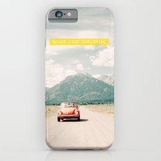 NEVER STOP EXPLORING V - vintage volkswagen bug iPhone 6 Slim Case