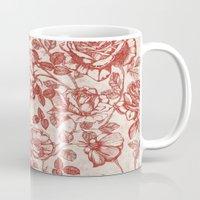 Toile de jouy (Roses) Mug