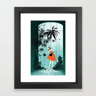 Framed Art Print featuring City Garden by Catherine Pioli