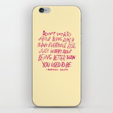 Darren Booth on Being Better iPhone & iPod Skin