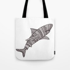 Patterned Shark Tote Bag