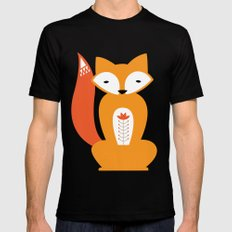 Ferdinand the Fox Mens Fitted Tee Black SMALL