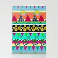 Graphical-Floral Pattern Stationery Cards