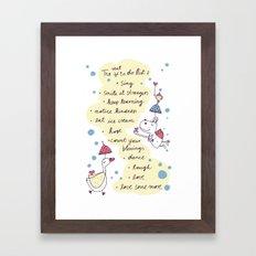 real to do list Framed Art Print