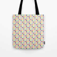 Watercolor Heart Pattern Tote Bag