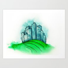 City on a Hill Art Print