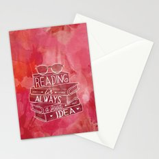 Reading is Always a Good Idea - Red Stationery Cards