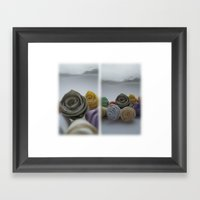 Paper Roses On A Frosty … Framed Art Print