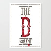 Django - The D Is Silent Canvas Print