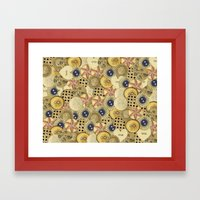 Covered in Buttons Framed Art Print