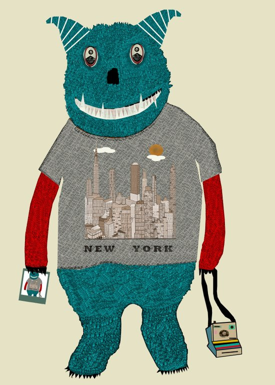 new york monster Art Print