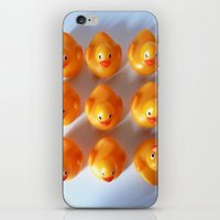 Rubber Ducks in a Row iPhone & iPod Skin