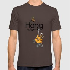 Pixar/Disney Wall-e Hang in There Mens Fitted Tee Brown SMALL