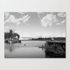 Crumbled Pier Canvas Print