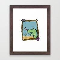 DINO BOY Framed Art Print