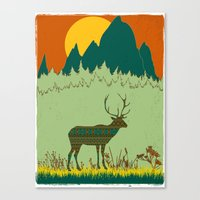 Deer Escapes From Gap Fa… Canvas Print