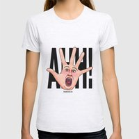 Five Fingered Face Womens Fitted Tee Ash Grey SMALL