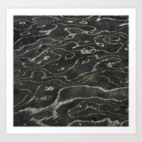 Liquid Marble Art Print