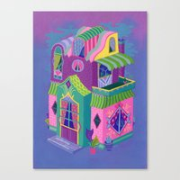 Balcony House Canvas Print