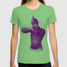 Pink Soldier Womens Fitted Tee Grass SMALL