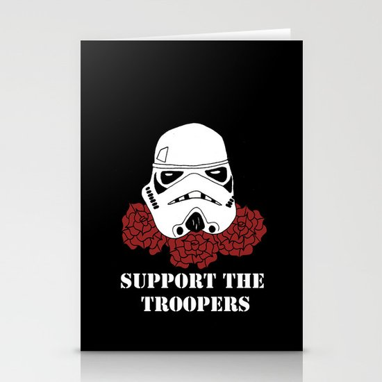 Support the Troopers Stationery Card