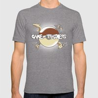 Game Of Trainers Mens Fitted Tee Tri-Grey SMALL