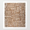 Northwoods Pattern. Art Print