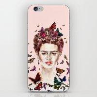 Frida Kahlo Flowers Butt… iPhone & iPod Skin