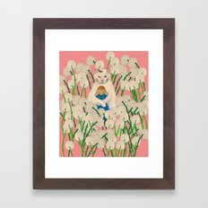 pinpong cat Framed Art Print