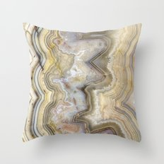 Jagged Agate Throw Pillow