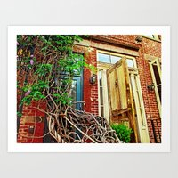 Vines over the Doorway Art Print